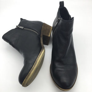 Lucky Brand ankle booties black leather  9M